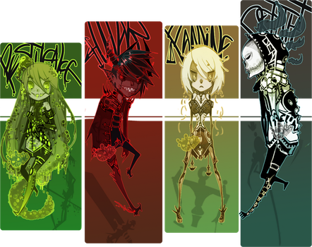 The four Horsemen of the Apocalypse by WoeAdopts