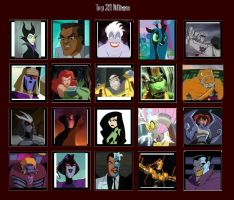 20 Cartoon Villains by Shark-Demon