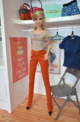 FR2 doll in hand knit top and corduroy pants by Hegemony77