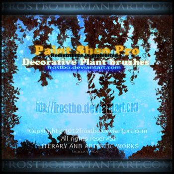 Decorative Plant Paint Shop Pro Brushes by FrostBo