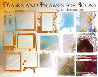 Frames and Mask brushes by endlessdeep