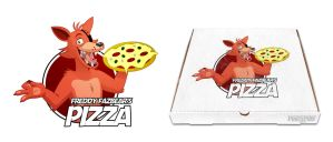 A cartoonish Foxy delivering a Pizza by PinkyPills
