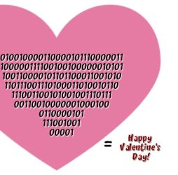 Binary Love (Happy Valentine's Day) - JLRigh by JRigh
