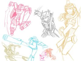 TFs Action sketch by Evelynism