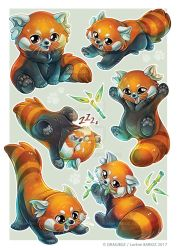 Red Panda Sticker sheet by Dragibuz
