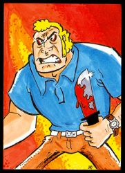Brock Samson Sketch Card by PlummyPress