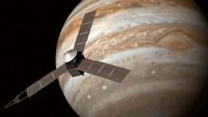Juno around Jupiter by Emigepa