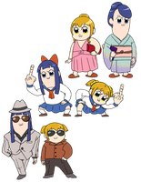 Pop Team Stickers by rimonade