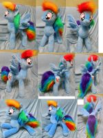 Rainbow Dash (commission), posable by Rens-twin