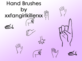 Hand Brushes by xxfangirlkillerxx