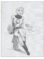 Invisible Woman sketch by John Byrne with my inks by StevenWilcox