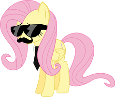 Mane Six Got Swag: Fluttershy by l0gun