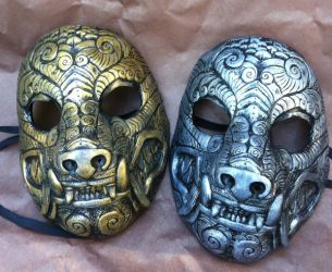 Ornate Monster Masks by missmonster