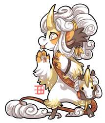 #1018 Blessed Mythical BB - Banana Unicorn AUCTION by griffsnuff