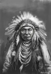 Native american speed drawing study by bocho
