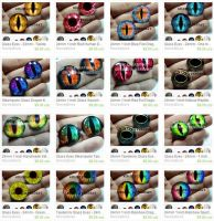 Handmade Glass Eyes for Altered Art Pendants by Create-A-Pendant