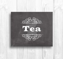 Tea Typography Design by Thelildesigns