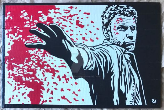 Supernatural Lucifer Duct Tape Art by DuctTapeDesigns