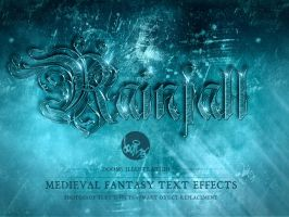 Rainfall - Medieval Fantasy Text Effect by Doomsillustration