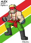 Alex Street Fighter V by ObsidianWolf7