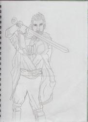 Cullen Dragon age Inquisition Sketch by RoooodWorks