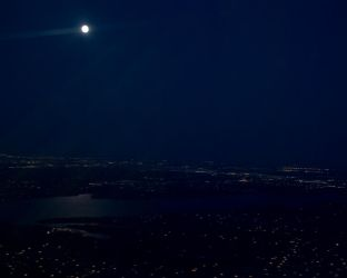 moon set over dallas by yabbles