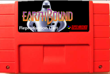 My idea for an Earthbound Reproduction cart by o-Amini