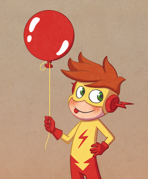 Kid Flash by Laughe