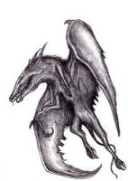 Winged Monster, Le Guin - Servant of the Stone II by KingOvRats