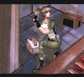 AT request : rebecca from resident evil by neiger
