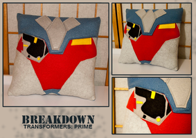 Transformers Breakdown Pillow by FlairtotheSky