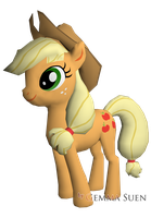 Low Poly Applejack by GemmaSuen