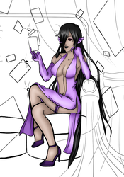 WIP - Some lineart and color by Yami-Loveless