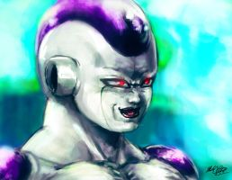 Frieza painting plus video by Mark-Clark-II
