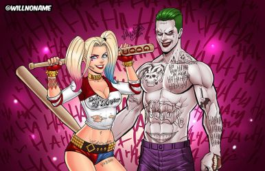 Harley Quinn and The Joker by WillNoName