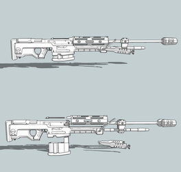 SRS 99 Airsoft Project by Izaak94