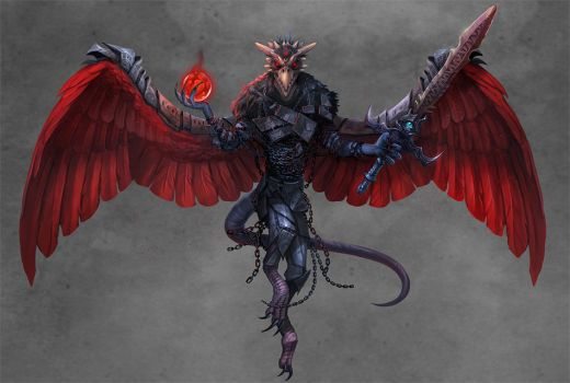 Paizo: Godspawn Vrock (Demons Revisited) by damie-m