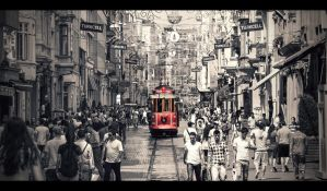 The Red Tram II by PortraitOfaLife