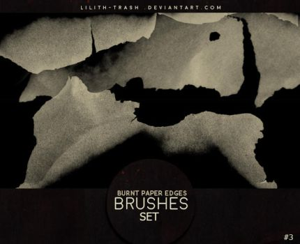 Burnt Paper Edges Brushes 3 by Lilith-Trash