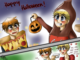 NHG: TRICK OR TREAT OF THE PAST. by TheGweny