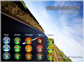 Vista Colors Orb by WindowsNET