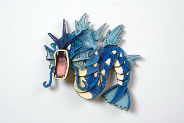 Pokemon Paper Quilling Art 130 Gyarados by wholedwarf
