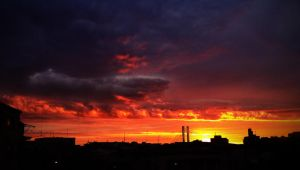fire in the sky (by iPhone) by ovidoo