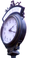 Antique Street Clock PNG by Thy-Darkest-Hour