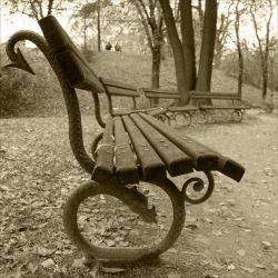 Old Park Bench by SweetChica19