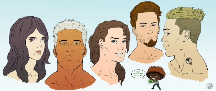 Five Strong Adults by KidiMaster