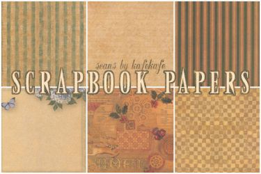 K Scrapbook Papers 01 by kafekafe
