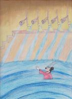 Sorcerer Mickey in a Whirlpool by MellowSunPanther
