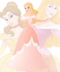 disney fusion Aurora and Belle by Willemijn1991