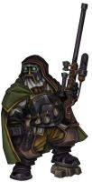 Dwarf Mercenary Sniper by Serg-Natos